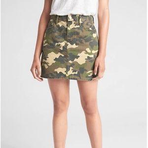 Gap Camo Print Denim Mini Skirt